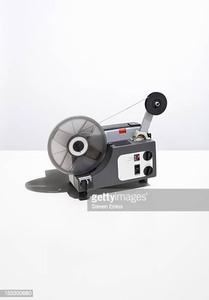 A vintage Super 8 film projector