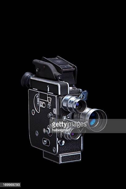 Super 8 Vintage film caméra isolé sur noir
