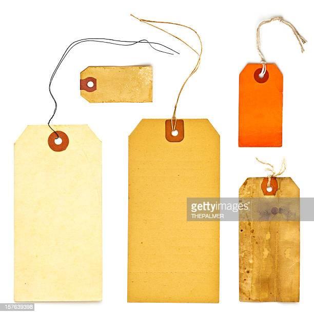 vintage tag label set