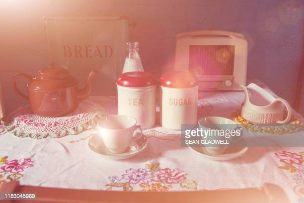 vintage tea time - tradition stock pictures, royalty-free photos & images