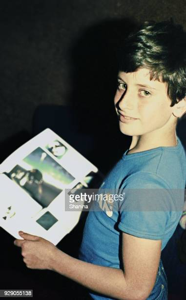 vintage teenage boy reading - boys photos stock photos and pictures