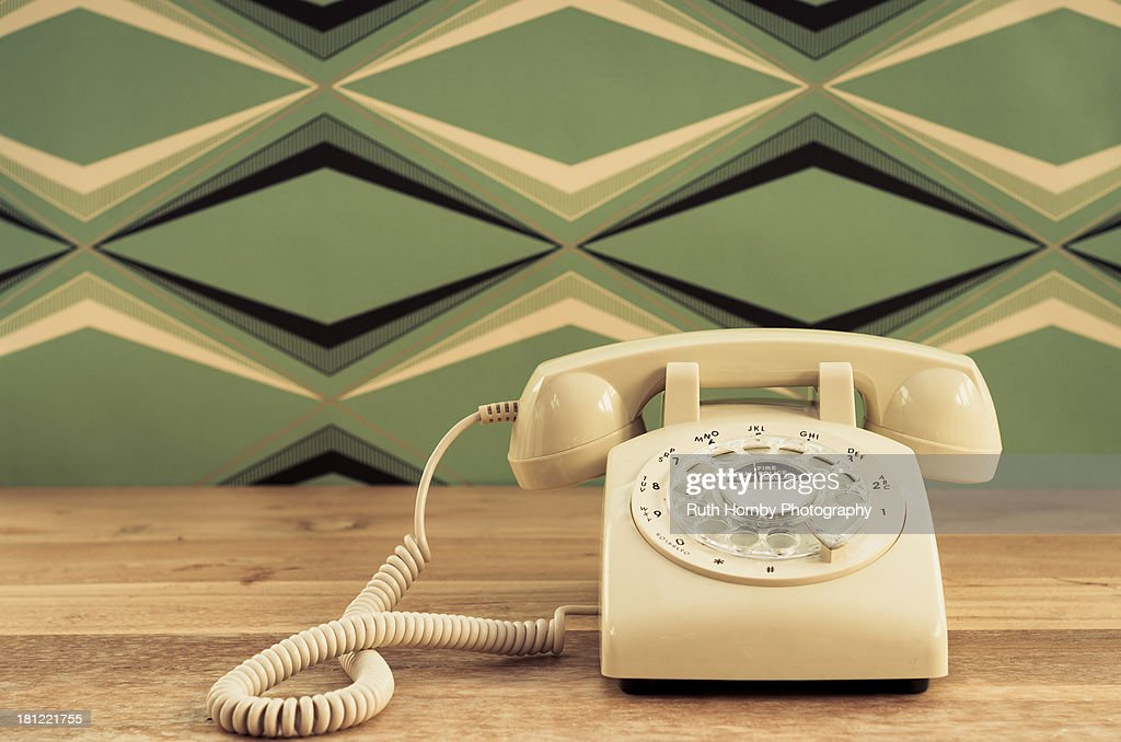 Vintage Telephone on A Table : Stock Photo