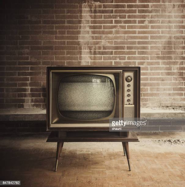vintage television - old stock photos and pictures