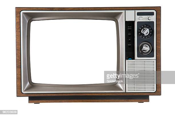vintage television - obsolete stock pictures, royalty-free photos & images