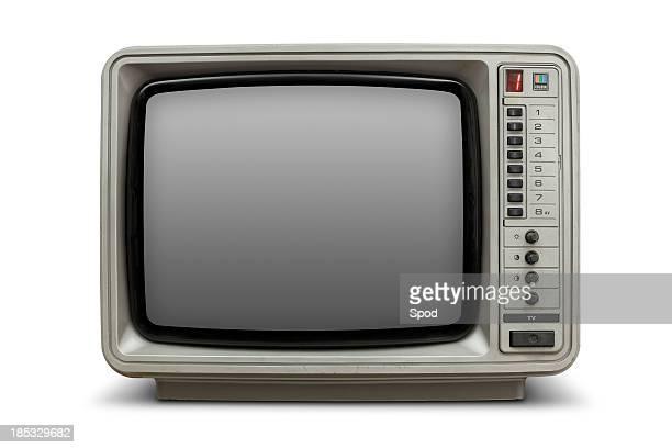 Télévision avec écran vide Vintage