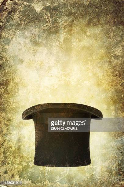 vintage top hat - poster stock pictures, royalty-free photos & images