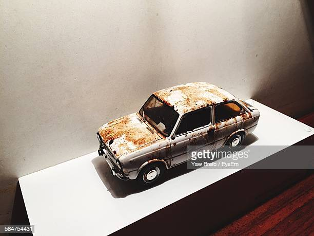 Vintage Toy Car Stained