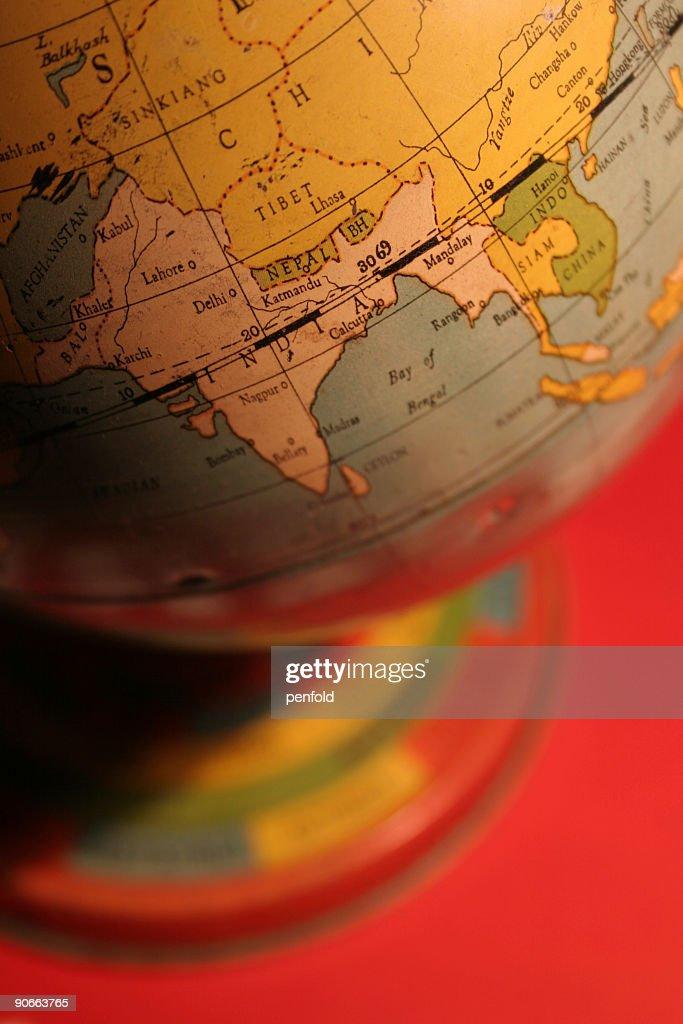 vintage toy globe : Stock Photo