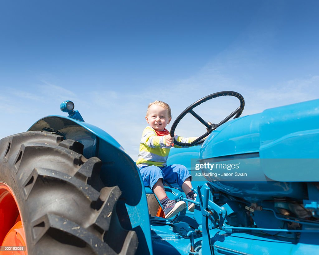 Vintage tractor fun : Stock Photo