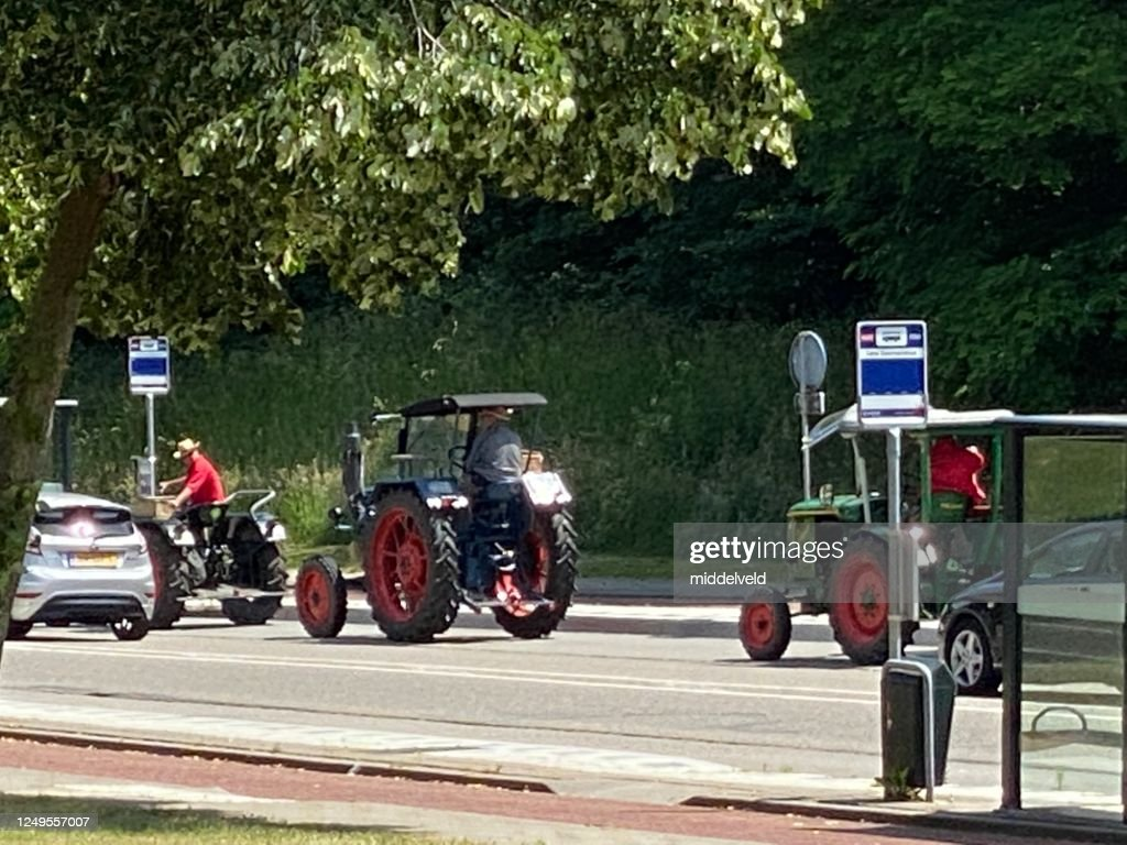 Vintage Tractors On Route High-Res Stock Photo - Getty Images