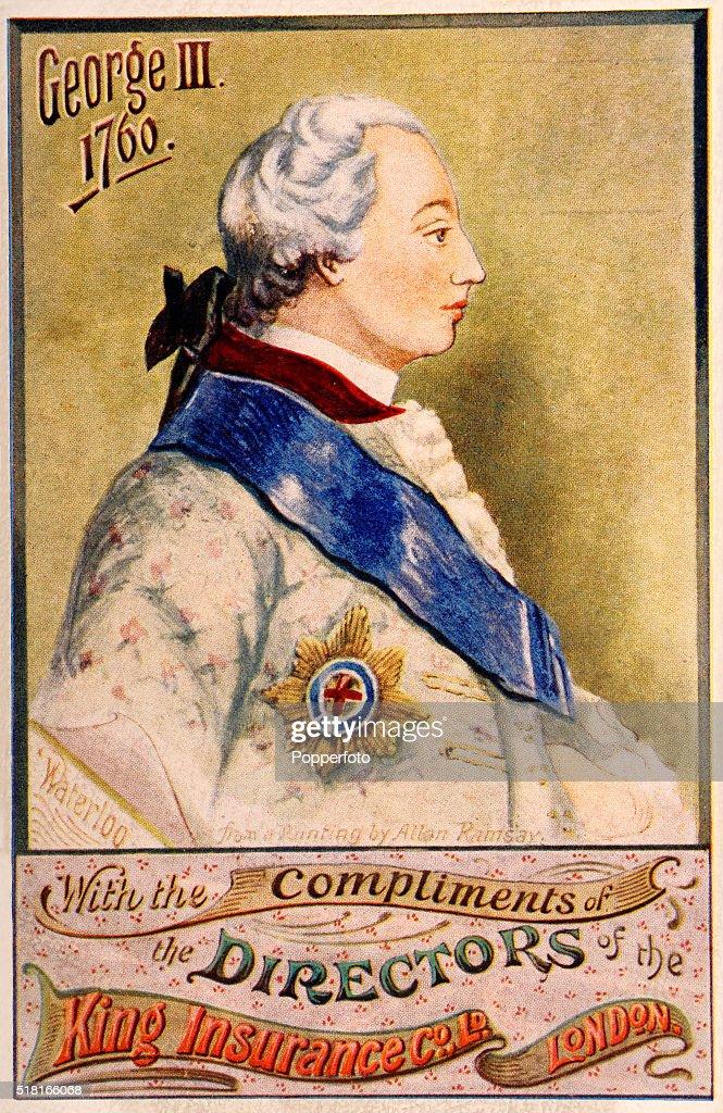 King George III - King Insurance Company Trade Card : News Photo