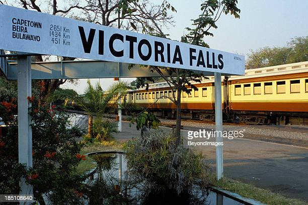 Vintage train at Victoria Falls station