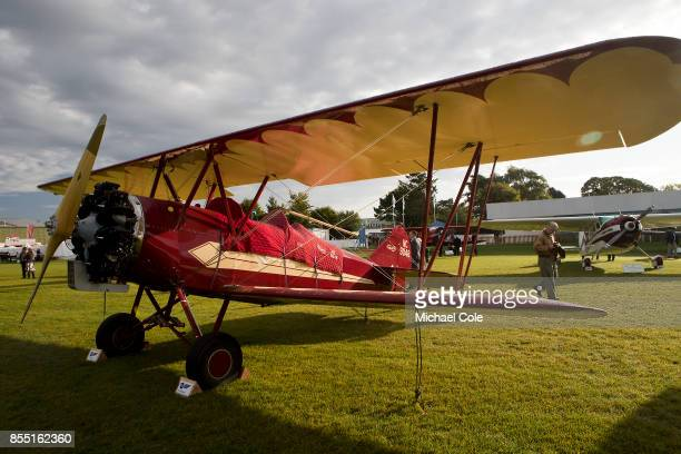 Vintage Travel Air 4000 BiPlane at the Freddie March Spirit of Aviation display at Goodwood on September 8th 2017 in Chichester England