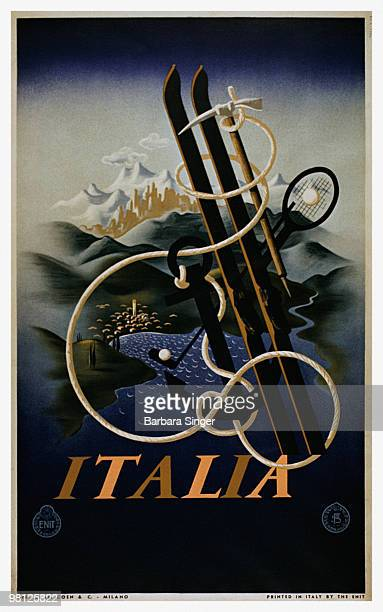 Vintage travel poster for Italy