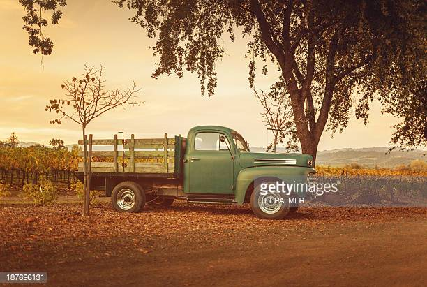 vintage truck - napa california stock photos and pictures