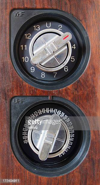 Vintage TV controls (closeup)