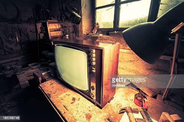 Vintage TV in Old-Workshop