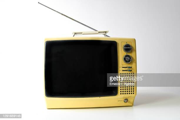 vintage tv set - television stock pictures, royalty-free photos & images