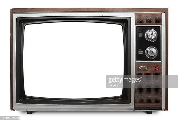 Vintage TV with blank screen