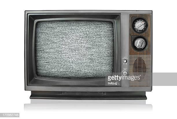 Vintage TV mit static