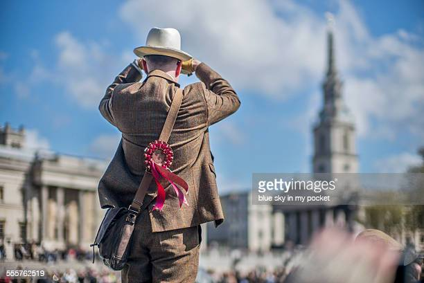 Vintage tweed, Trafalgar Square, London