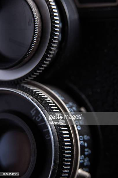 Vintage Twin Lens Reflex Camera Detail