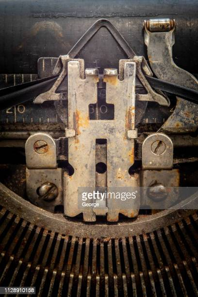 vintage typewriter - authors stock pictures, royalty-free photos & images