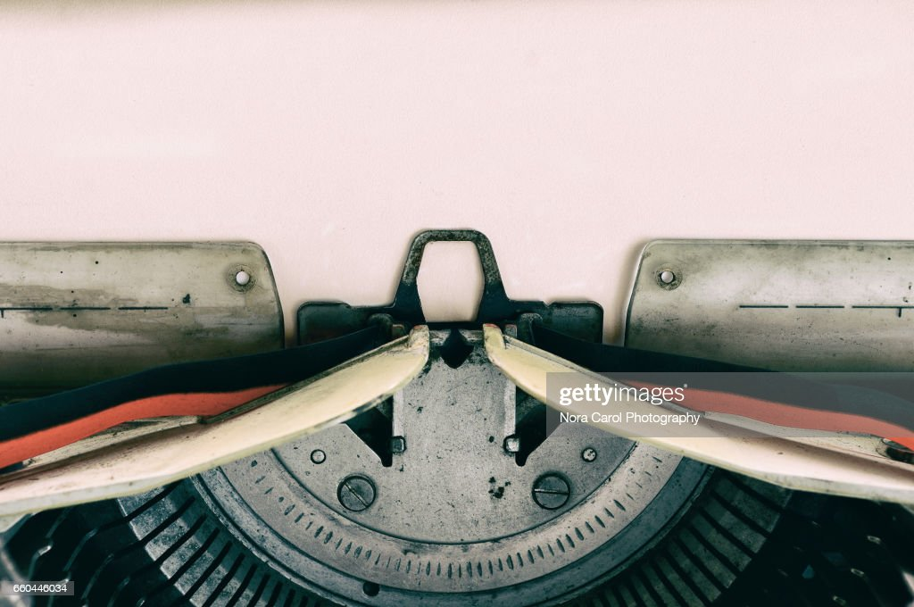 Vintage Typewriter with Paper : Stock Photo