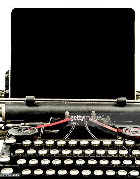 Vintage macchina da scrivere con compressa