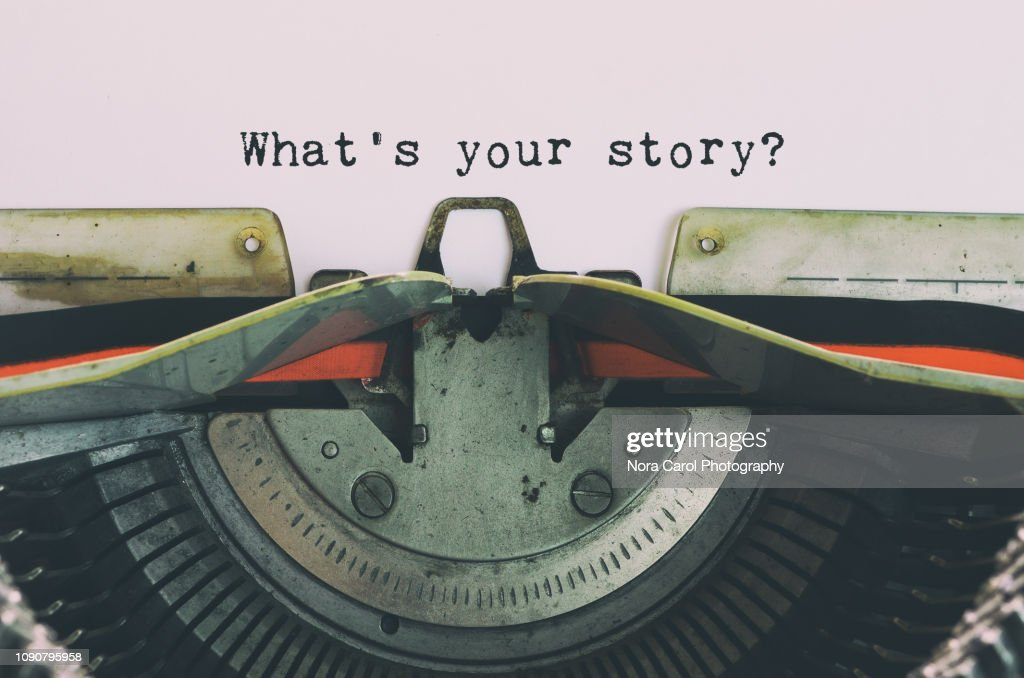 Vintage Typewriter With Text - What's Your Story : Stock Photo