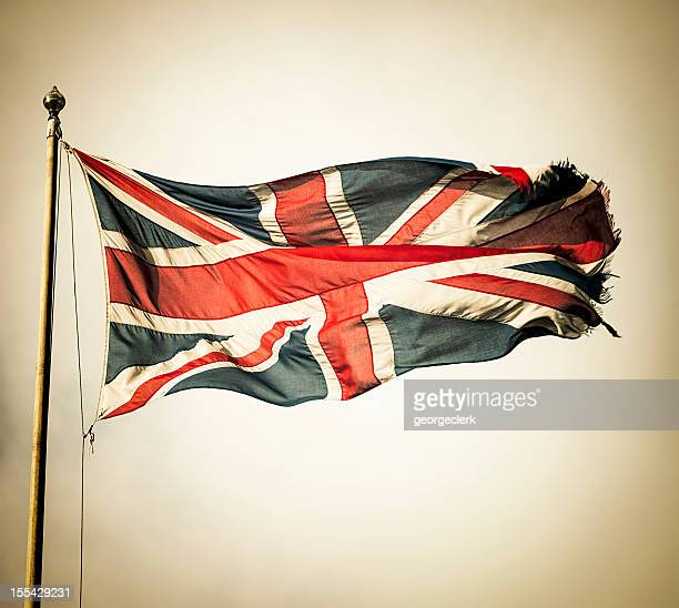 vintage union flag - union jack stock photos and pictures