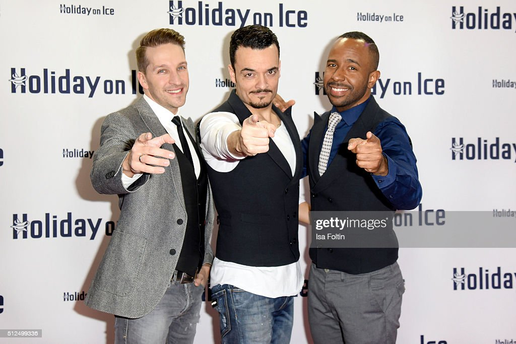 Vintage Vegas attend the 'Holiday on Ice: Passion' Berlin Premiere on February 26, 2016 in Berlin, Germany.