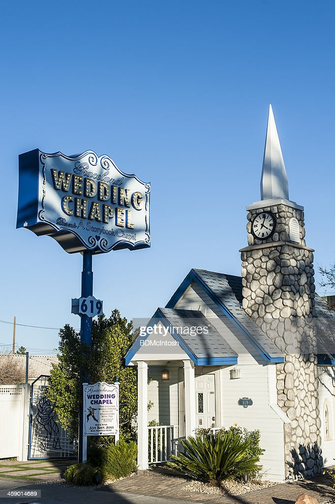 Graceland Wedding Chapel.Vintage Vegas Graceland Wedding Chapel Stock Photo Getty