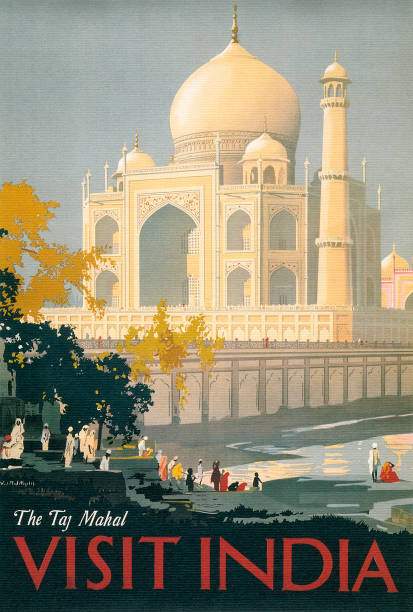 Taj Mahal Travel Poster