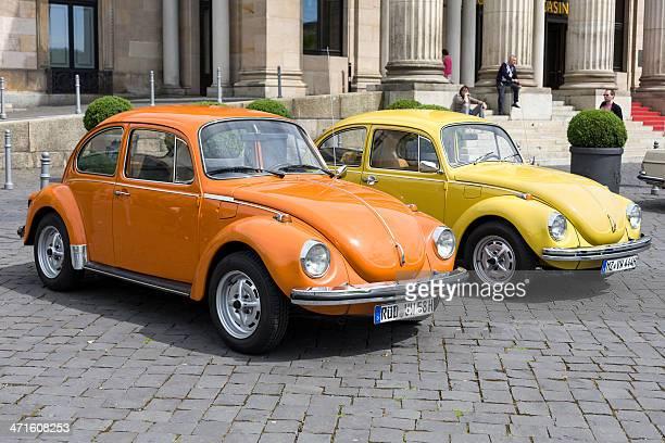 vintage volkswagen kaefer - volkswagen beetle stock photos and pictures