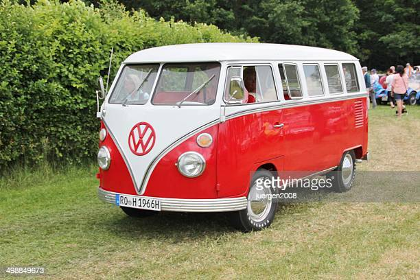 vintage vw bus t 1 - volkswagen stock pictures, royalty-free photos & images