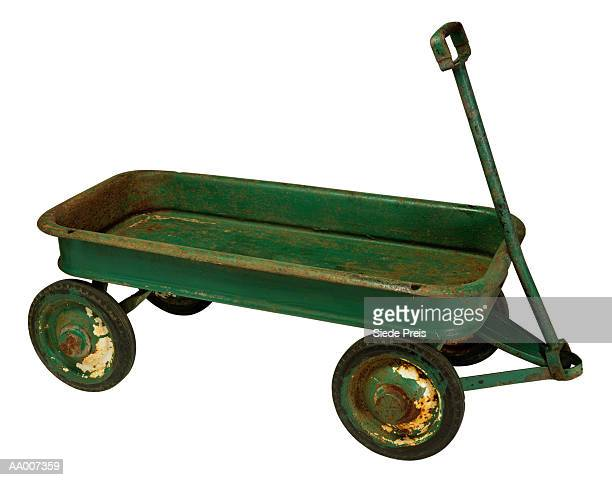 vintage wagon - toy wagon stock photos and pictures