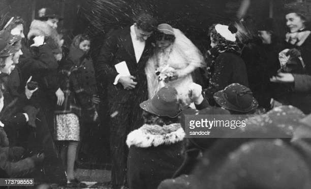 Vintage wedding throw