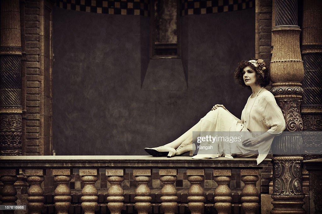 Vintage Frau : Stock-Foto