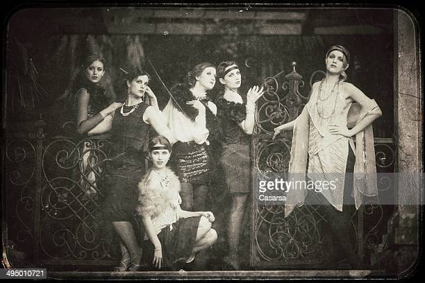 vintage women - roaring 20s stock photos and pictures