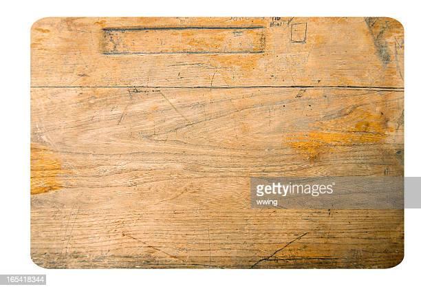 Vintage Wood Student Desk Top