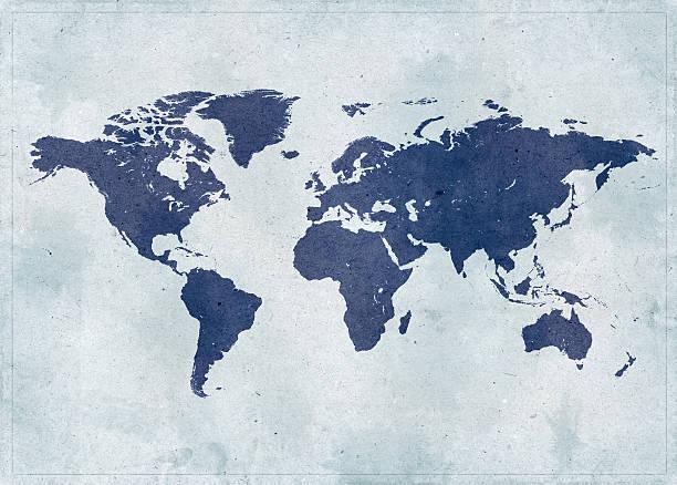 Vintage World Map Wall Art