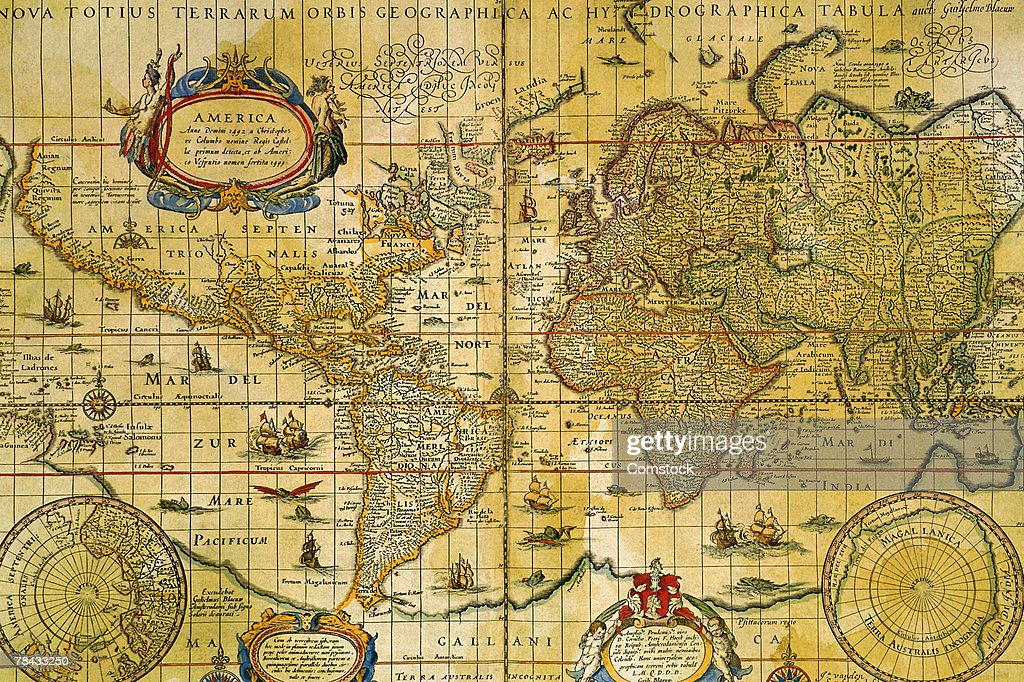 Vintage world map : Stockfoto