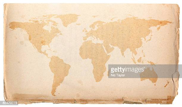 Worlds Best Old World Map Wallpaper Stock Pictures Photos