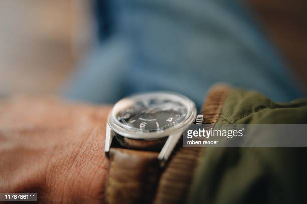 vintage wrist watch - wrist stock pictures, royalty-free photos & images