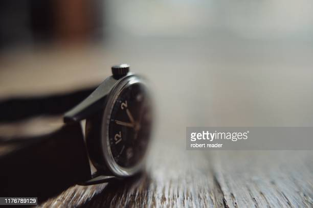 vintage wrist watch - wristwatch stock pictures, royalty-free photos & images