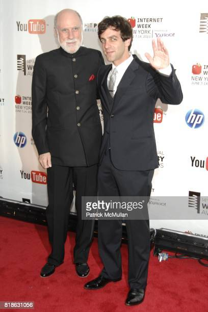 Vinton Cerf and BJ Novak attend 14th Annual Webby Awards at Cipriani Wall Street on June 14 2010 in New York City