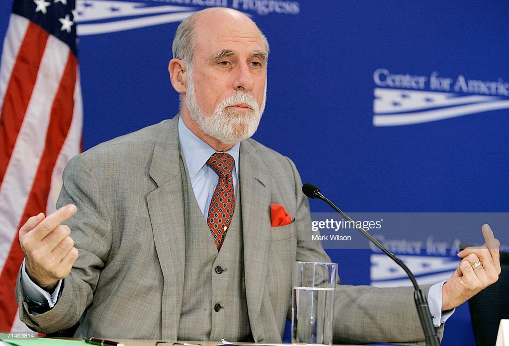 Vinton Cerf Participates In A Debate About The Internet : News Photo