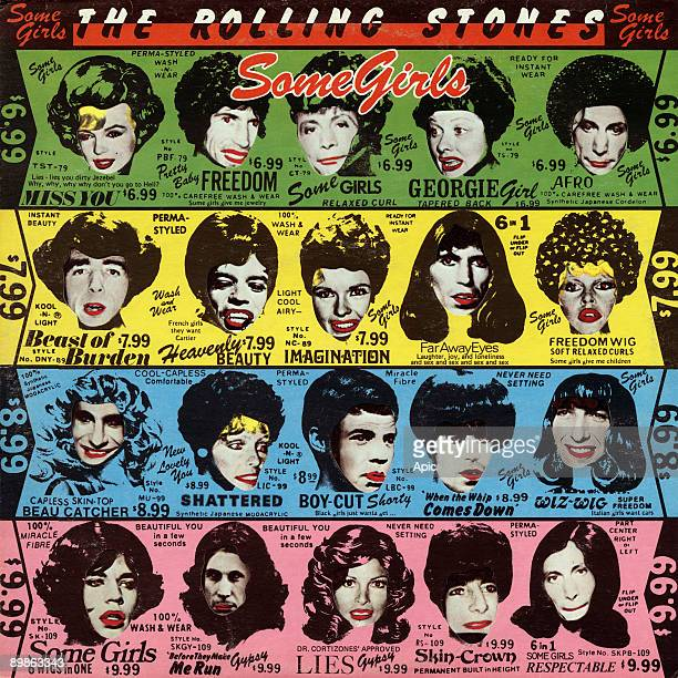 Vinyl record sleeve of 'Some Girls' song by The Rolling Stones in 1978