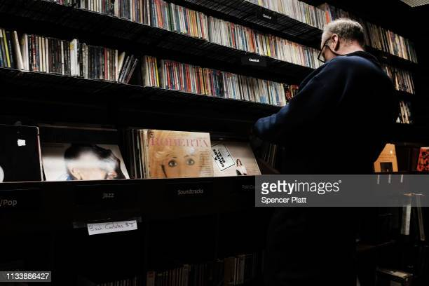 Vinyl records are displayed in a store on March 05 2019 in New York City A new report by the Recording Industry Association of America revealed that...